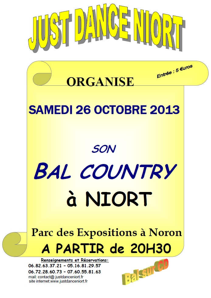 AFFICHE BAL CD 26 OCTOBRE 2013